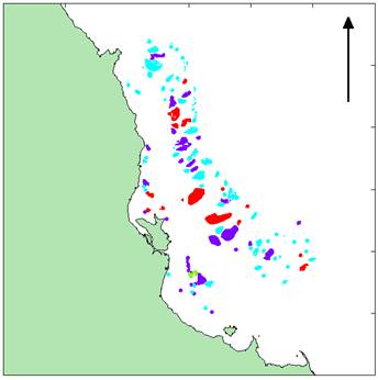 Distribution of Reefs