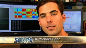 Qaecologist Michael Bode on Channel Ten's SCOPE